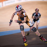 speedskating的竞争 免版税库存照片