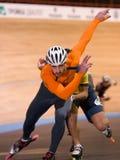 speedskating的竞争 免版税库存图片