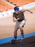 Speedskating competition Royalty Free Stock Images