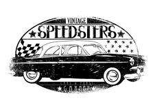 Speedsters. Vector illustration ideal for printing on apparel clothes Royalty Free Stock Images