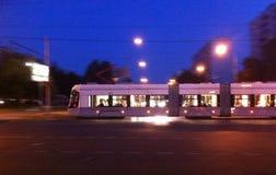 Speedtram na noite Fotografia de Stock Royalty Free
