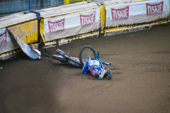 Speedway crash Stock Photos