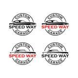 Speedway custom garage logo vector. Logo Automotive custom garage vector Royalty Free Stock Images
