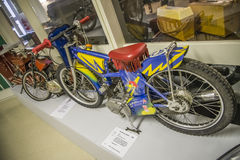 2002 speedway mini, sweden, homemade. Engine: 50cc, Husqvarna 2-stroke. All the pictures are shot on Ed's motorcycle and Motor Museum in Ed, Sweden. Interesting stock images