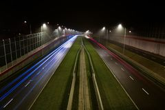 Speedway at night Stock Image
