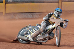 Speedway OEM 2013. EGGENDORF, AUSTRIA - APRIL 28 Jernej Pecnik (#12 Slovenia) places 7th in the Austrian speedway championship on April 28, 2013 in Eggendorf stock photos