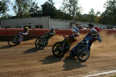 Speedway race. The Amateur competition in Speedway royalty free stock photo
