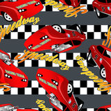 Speedway racing seamless pattern Stock Image