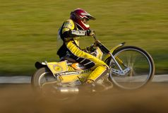 Speedway rider. Marcin Liberski on the track in Poznan July 15, 2007 Royalty Free Stock Photo