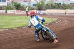 Speedway rider Stock Photo