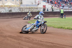 Speedway rider. At a dirt track competition in Sibiu, Romania Royalty Free Stock Image
