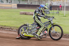 Speedway rider Royalty Free Stock Images