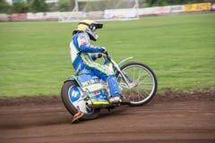 Speedway rider Royalty Free Stock Image