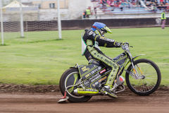 Speedway rider. At a dirt track competition in Sibiu, Romania Royalty Free Stock Photography