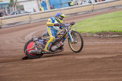 Speedway rider. At a dirt track competition in Sibiu, Romania Royalty Free Stock Photos