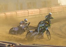 Speedway rider on the track Royalty Free Stock Photo