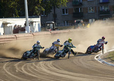 Speedway rider on the track Royalty Free Stock Photos