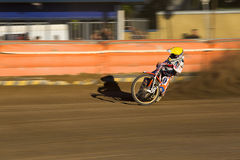 Speedway rider on the track Royalty Free Stock Photography