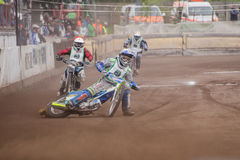 Speedway riders Stock Images