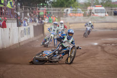 Speedway riders Stock Photos