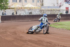 Speedway riders Stock Photography