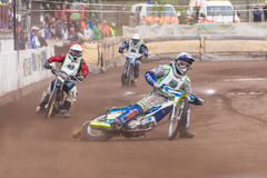 Speedway riders. At a dirt track competition in Sibiu, Romania Royalty Free Stock Photos
