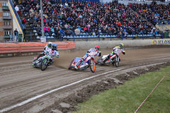 Speedway riders on the track Royalty Free Stock Photography