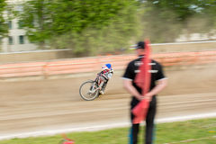 Speedway riders on the track. DAUGAVPILS, LATVIA - May 22, 2016: Speedway riders on the track in match of polish NICE league Lokomotiv - Wlokniarz Czestochowa 51 stock photos