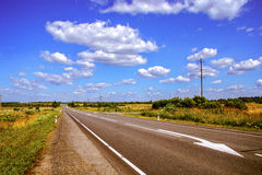 Speedway road through natural landscape in summer Stock Images
