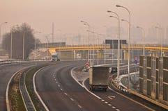 Speedway S17 nära till Lublin, Polen Royaltyfri Foto