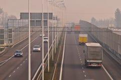 Speedway S17 nära till Lublin, Polen Arkivfoton