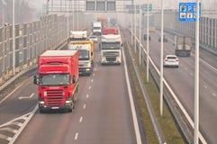 Speedway S17 nära till Lublin, Polen Royaltyfria Foton