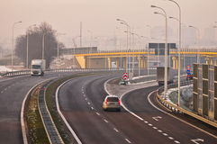 Speedway S17-S12 nära till Lublin, Polen Royaltyfria Bilder