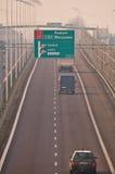 Speedway S17-S12 nära till Lublin, Polen Royaltyfri Fotografi