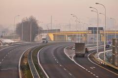 Speedway S17-S12 nära till Lublin, Polen Arkivfoton