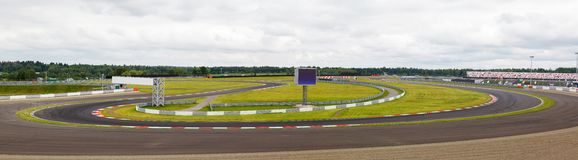 Speedway with a sharp turn Royalty Free Stock Image
