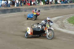 Speedway Sidecar Bikes Stock Image