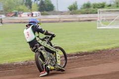 Speedwaybaanruiter Royalty-vrije Stock Foto's