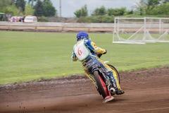 Speedwaybaanruiter Royalty-vrije Stock Fotografie