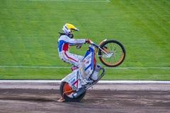 Speedwaycykel Royaltyfri Foto
