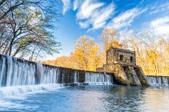 Speedwell水坝瀑布 免版税库存图片