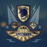 Speedwey 666  retro emblems Royalty Free Stock Photos