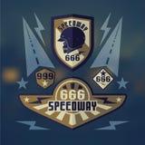 Speedwey 666  retro emblems. Set of emblems speedwey 666 Royalty Free Stock Photos