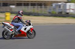 Speedy biker royalty free stock photography