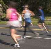 Speedy Blurred Runners Royalty Free Stock Photos