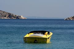 Speedy boat at sea Royalty Free Stock Images