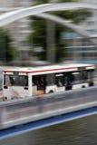 Speedy bus. Picture of speedy bus on the bridge Royalty Free Stock Photo