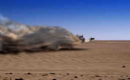 Speedy camel. An illustration of a smart camel run to desert plain Royalty Free Stock Photos