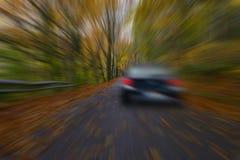 Speedy on car road. Royalty Free Stock Image