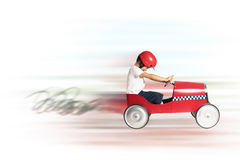 Speedy car toy stock image